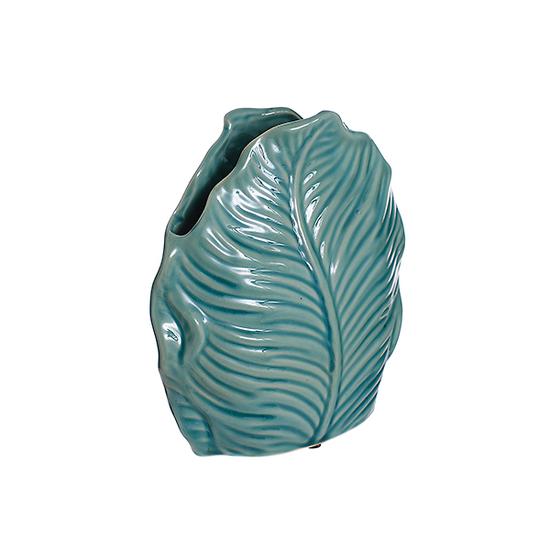 Ваза-листья голубая (22см) L154 гол
