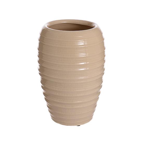 Ваза-сосуд керамическая бежевая лилия (36см) L180 беж