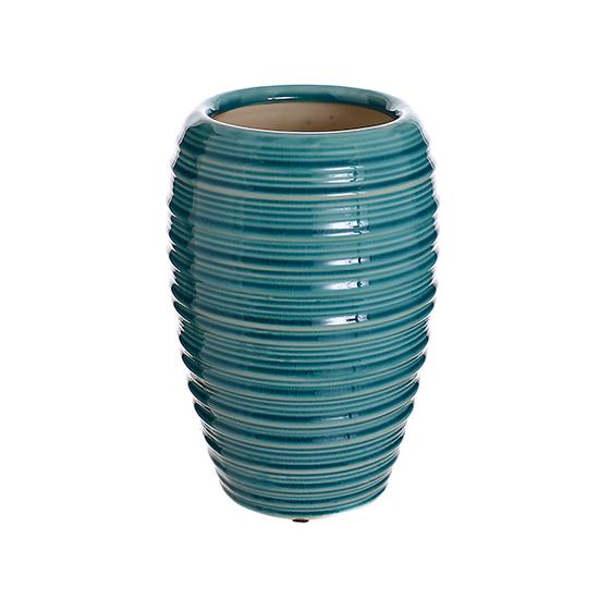 Ваза керамическая голубая лилия (24см) L180 гол