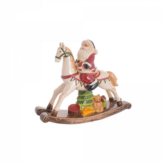 Дед мороз на лошадке 31х9х26 NX116445