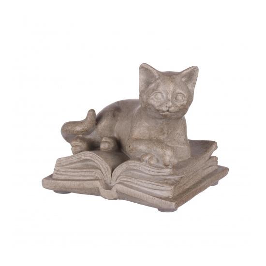 Статуэтка кошка на книге 9х6,5х7,5 QJ99-0038