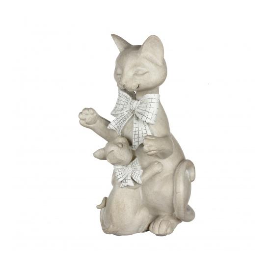 Статуэтка кошки с бантиком 15х14х26,5 QJ99-0045