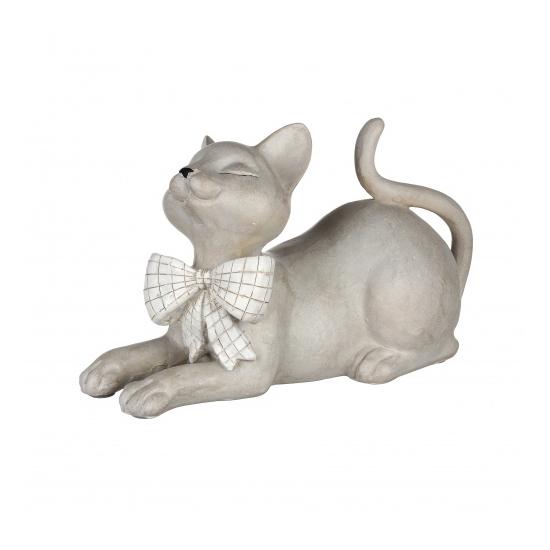 Статуэтка кошка с бантиком 26х12х15 QJ99-0046