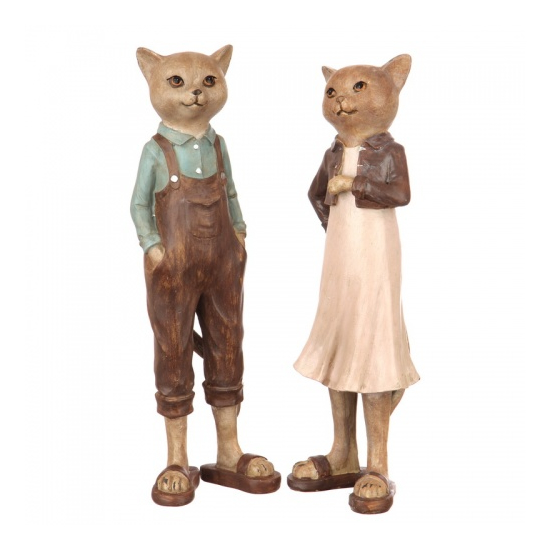 Статуэтка (набор) кот и кошка 10х9х31/10х9х32 US99-0010