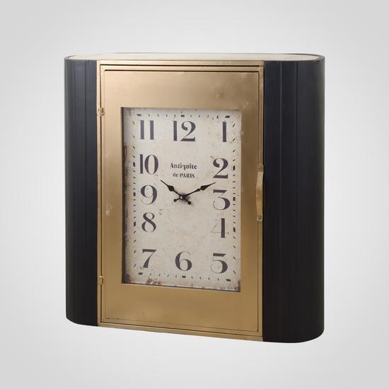 Часы - шкафчик черный и золотистый 80х22х80 MU13B-F028L1