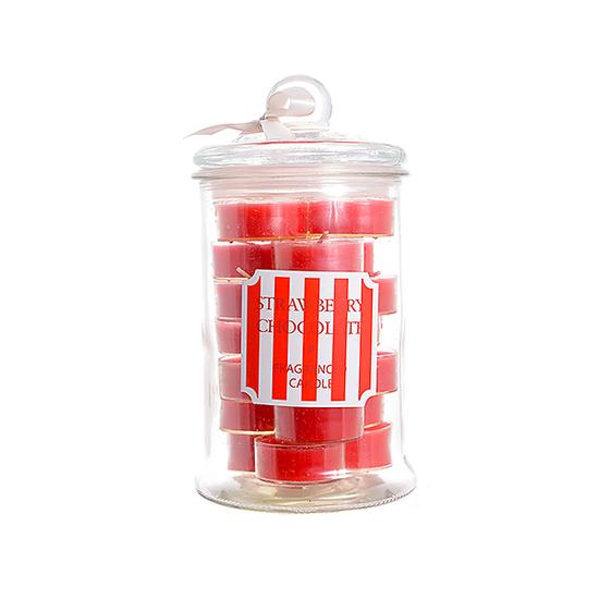 Набор арома свечей в банке клубника 1111598-клуб