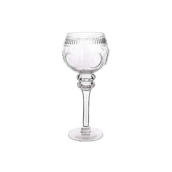 Подсвечник стеклянный Прозрачный империал (30см) 15Q338