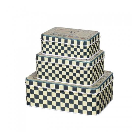 Банки для сыпучих продуктов (3 шт) 8,5х13,5х7/ 10х14х6/ 8,5х12х4,5 BX99-0016