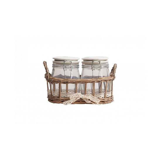 Набор для хранения в плетеной корзинке Bunuelo DG-D-950