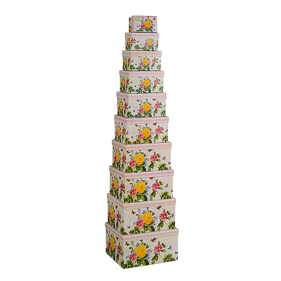 Набор коробок с розой из 10 шт. HY-0013