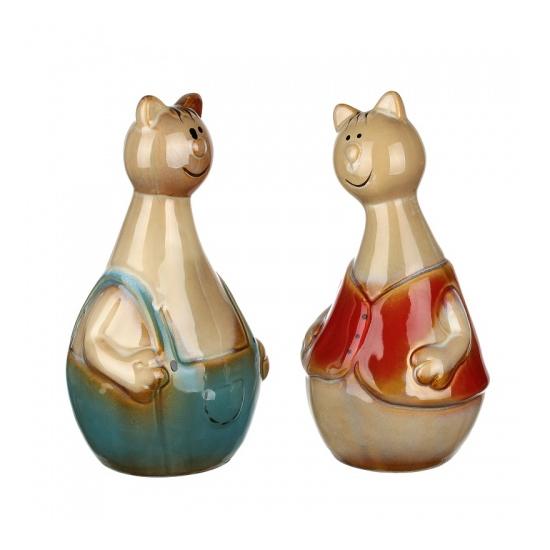 Фигурки керамические кот и кошка 10х9х19/10х9х19 IU99-0035