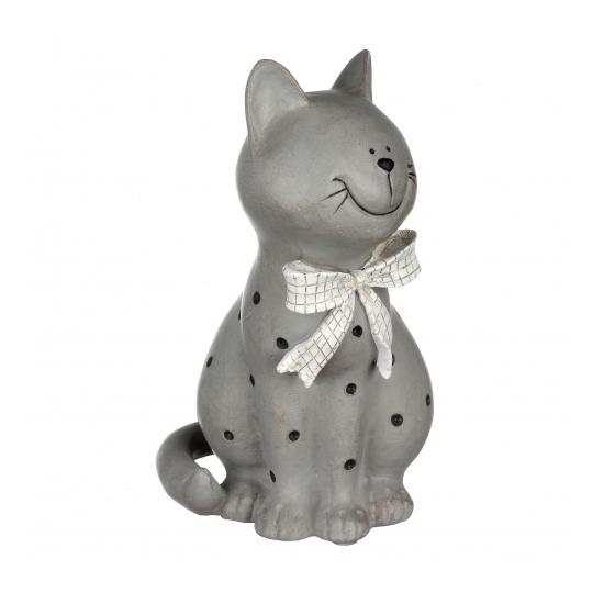 Статуэтка кошка в горошек 16х13х24 QJ99-0015