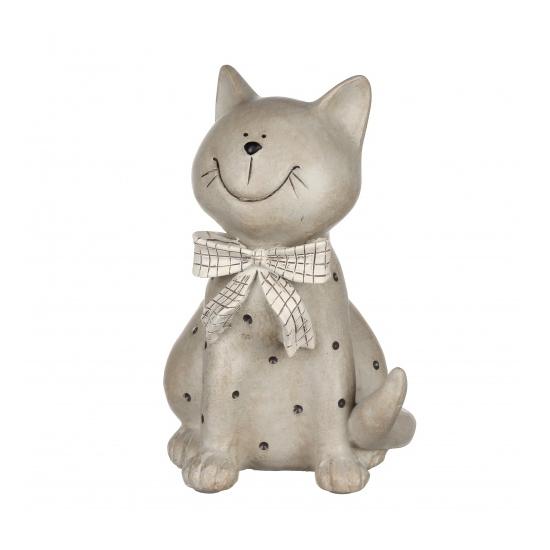 Статуэтка кошка в горошек 12,5х11,5х18 QJ99-0016