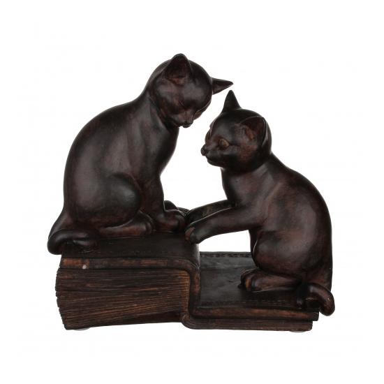 Статуэтка кошки на книге 21,5х13х20 QJ99-0040