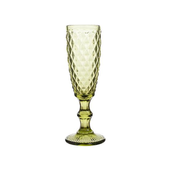 Бокал для шампанского, зеленый Северное сияние (набор 6шт)