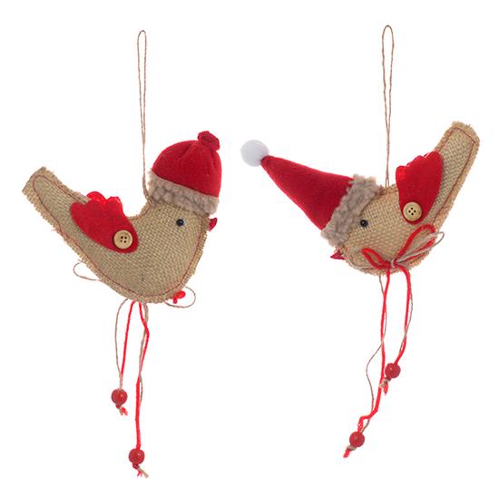 Новогодний декор птичка ( от 12-х шт.) 15A-987A2.A1