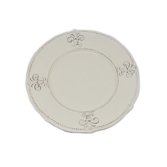 Тарелки керамические кремовые 22 см. 6 шт. T10407-2