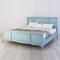 Кровать Leblanc голубая, с изножьем