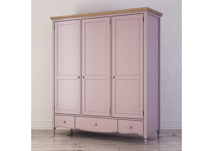 Шкаф трехстворчатый Leblanc, лаванда