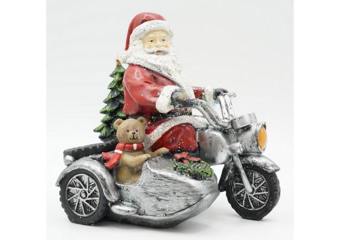 Статуэтка Дед мороз на мотоцикле 13х18х17 KT99-0049