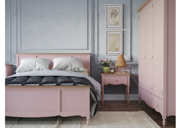 Кровать двуспальная 180*200 Leblanc, лаванда