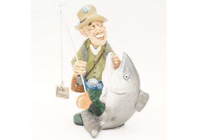 Статуэтка Рыбак 10,5х6х18 RM08-0012