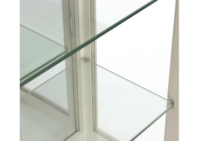 Витрина одностворчатая стеклянная низкая 139см. на 3 полки ST9319