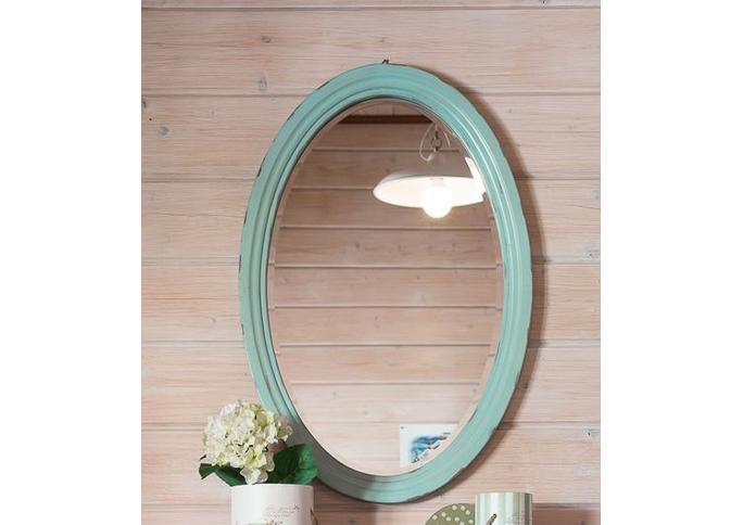 Овальное зеркало (голубое) ST9333 AB