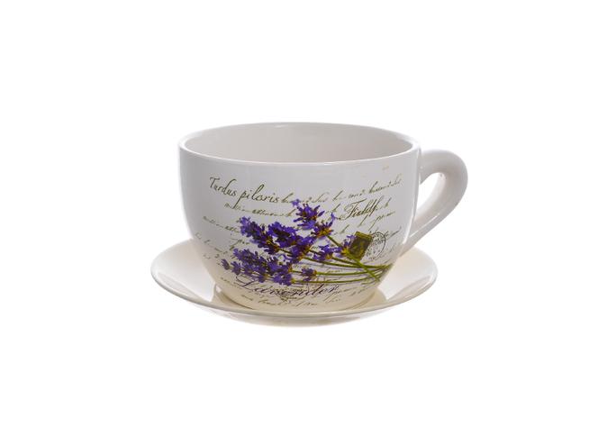Кашпо- чашка Лаванда (19см) 13B512(123)