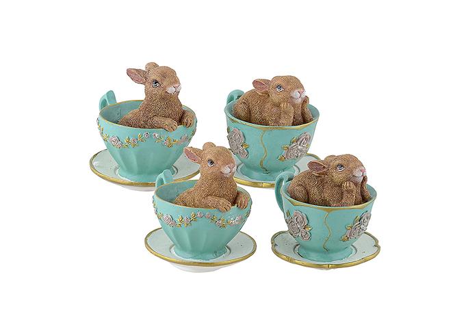Декор кролик в чашке (от 4 шт.) 2015510-16