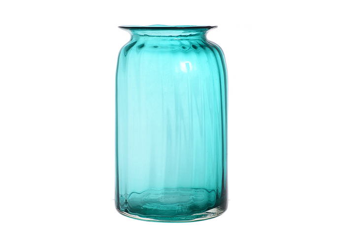 Ваза стеклянная голубая малая A4-гол