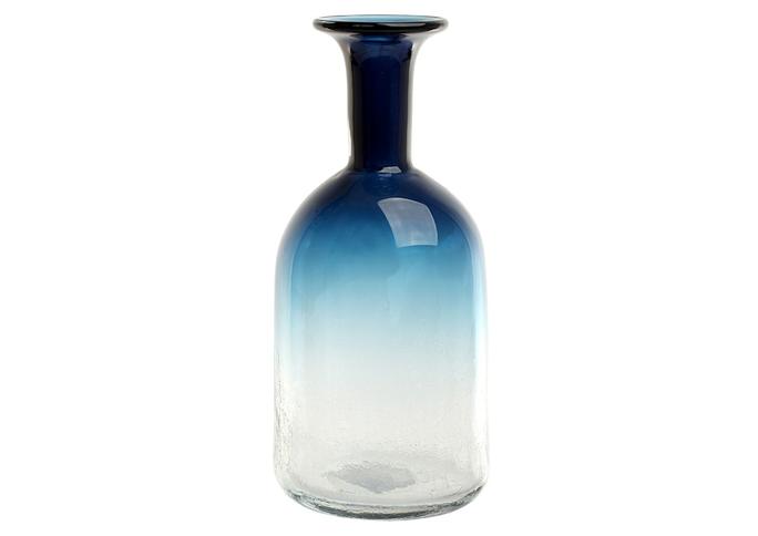 Ваза стеклянная (ручная работа) H32 MaxØ 15 см DG50-0002