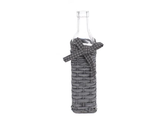 Ваза бутылка серая JKE-41
