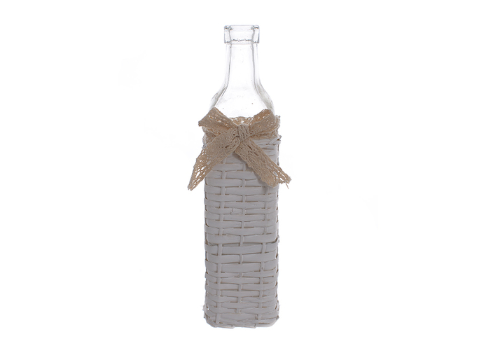 Ваза бутылка белая JKE-41