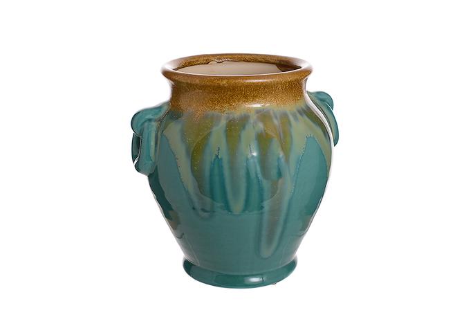Ваза-сосуд керамическая Голубой огонек (21см) L02-2