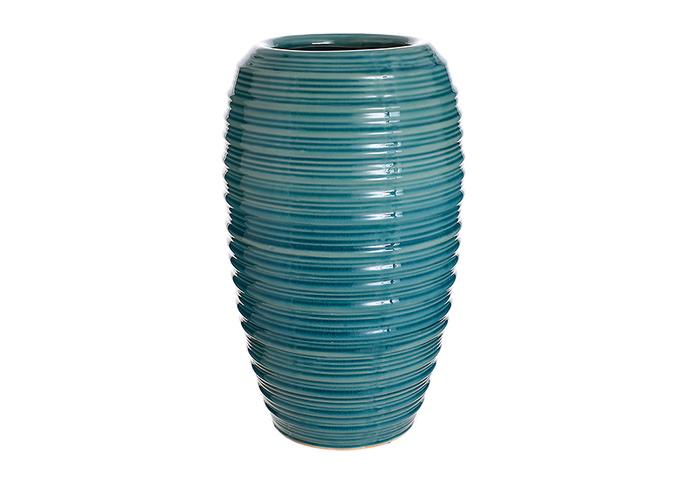 Ваза-сосуд керамическая голубая лилия (36см) L179 гол