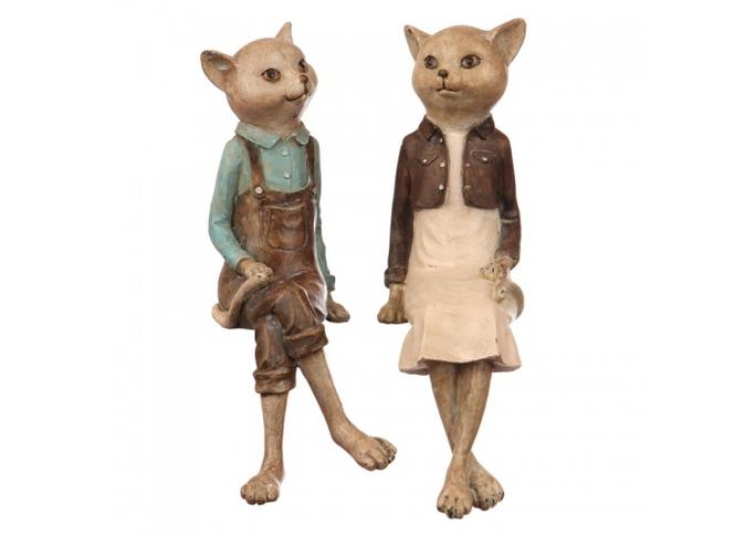 Статуэтки(набор) кот и кошка 27х9х31/27х9х31 US99-0008