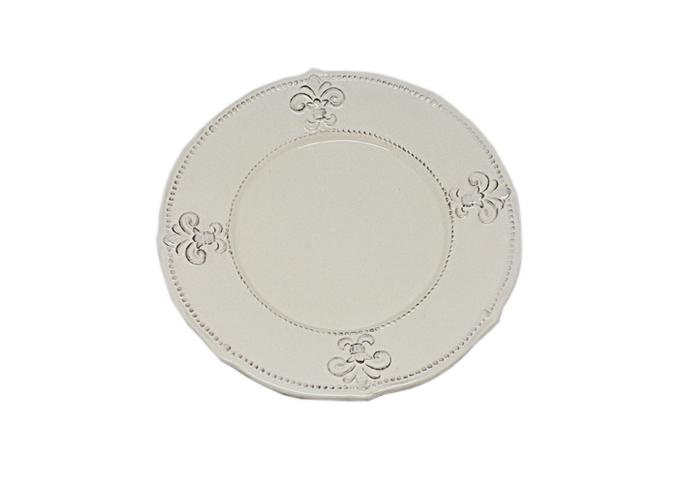 Тарелки керамические кремовые 26 см. 6 шт. T10408-2