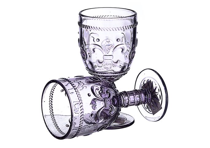 Бокал для Вина Дикая Фиолетовая Лилия 300 ml (набор 6 штук)