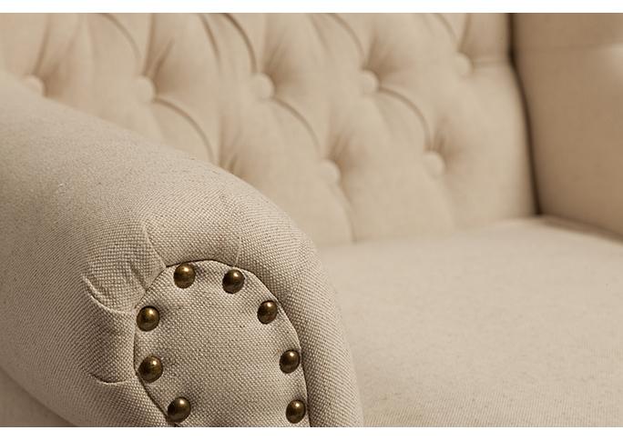 Кресло French Provincial Armchair Белый Лен DG-F-ACH481