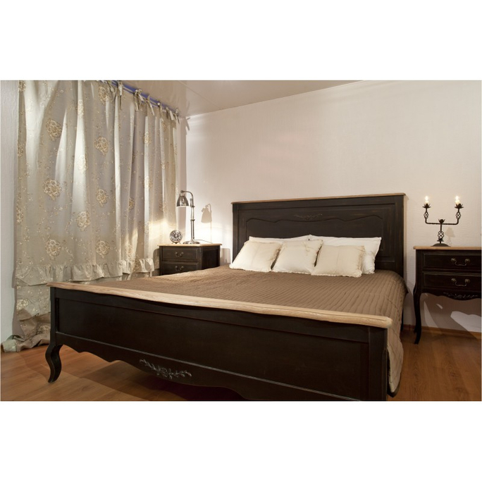 Кровать черная деревянная 180х200 ST9141LN