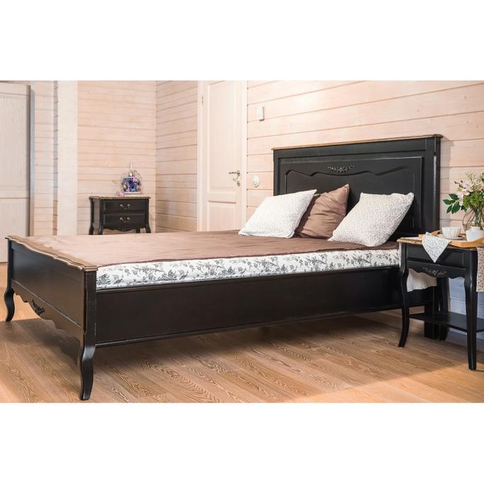 Кровать черная деревянная 150х200 ST9141SN