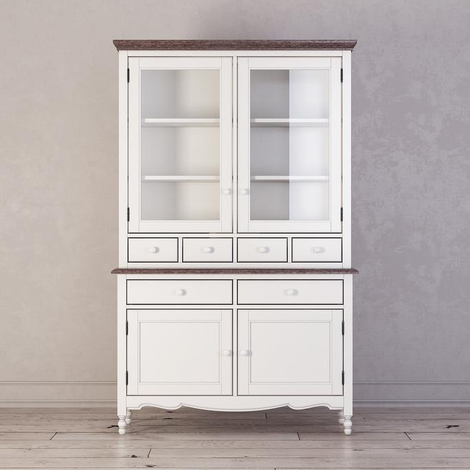 Буфет с ящиками и дверцами Leblanc, белый
