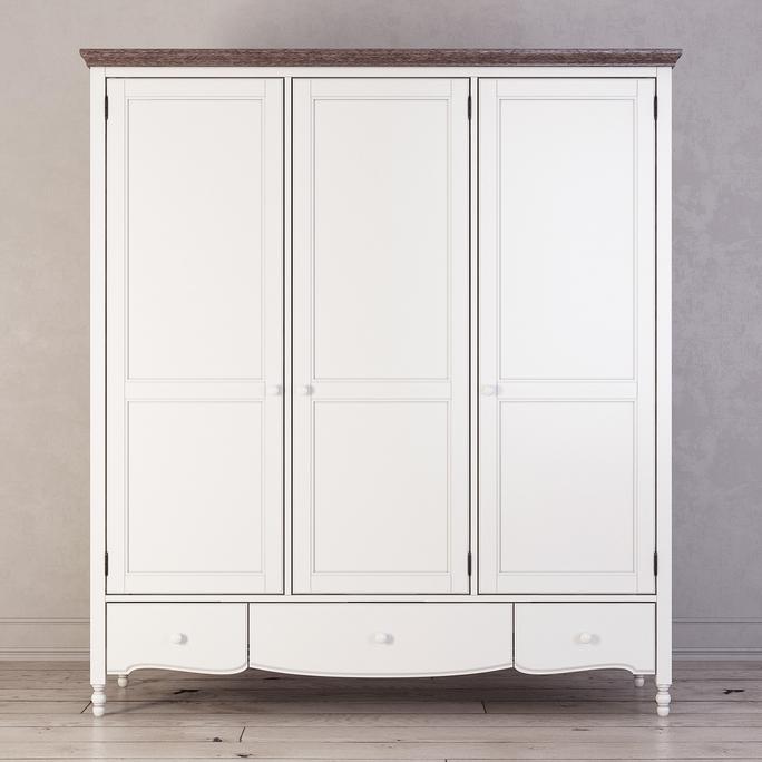 Шкаф трехстворчатый Leblanc, белый