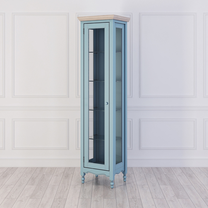 Витрина L левая Leblanc, голубая