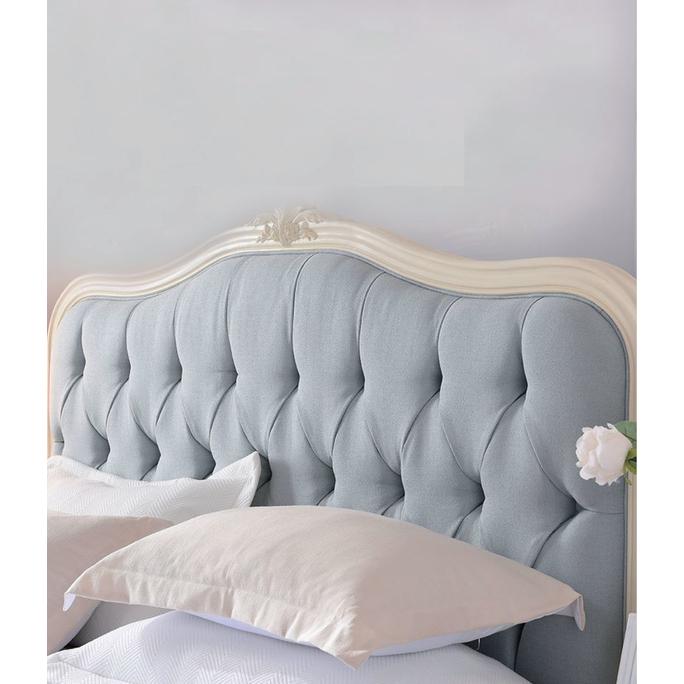 Кровать бежевая с мягким изголовьем 164*212 GW111S