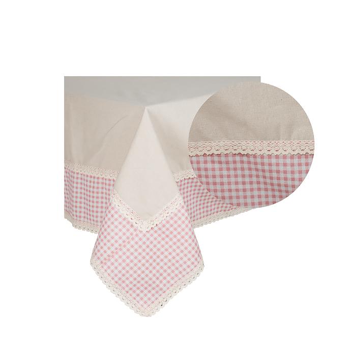 Скатерть Розовая клеточка 150х180