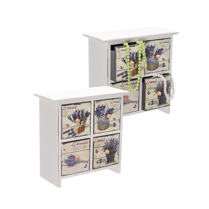 Шкатулка Лаванда на четыре ящика