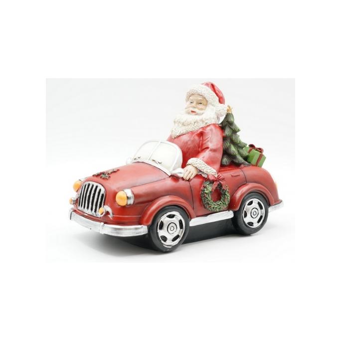 Статуэтка Дед мороз на автомобиле 20х11х16 KT99-0052