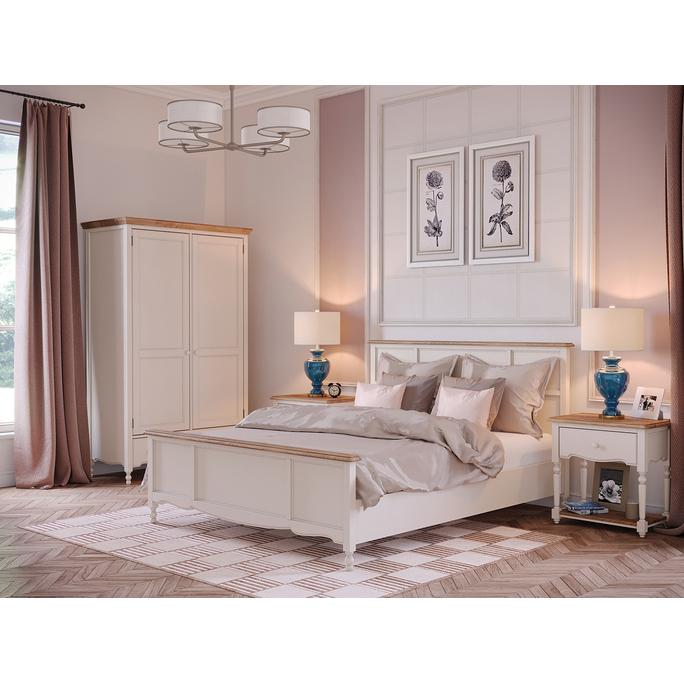 Кровать Leblanc, двуспальная, бежевая